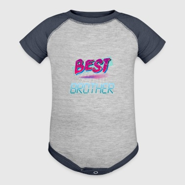 80s Best Brother 80s Retro - Baby Contrast One Piece