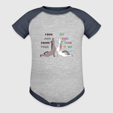 Pose Your My Mom Doing Yoga Horse Unicorn Cobra Pose - Baby Contrast One Piece