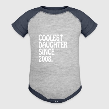 Best Mom Daughter Gifts Coolest Daughter 2008 Daughter GIft - Baby Contrast One Piece