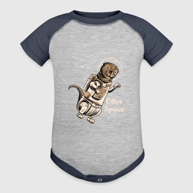 Space otter shirt for cute otter ferret lovers - Baby Contrast One Piece