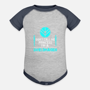 Shield Don t call me Princess I m a Shield Maiden - Baseball Baby Bodysuit