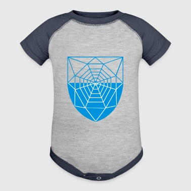 spider web - Baby Contrast One Piece