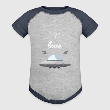 I love spaceships astronaut gift - Baby Contrast One Piece