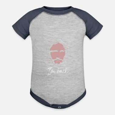 Easter Eastern and Jesus is back - Baseball Baby Bodysuit