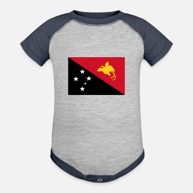 New papua new guinea - Baseball Baby Bodysuit