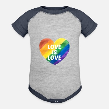 Gay Pride Gay Pride Love is Love - Contrast Baby Bodysuit