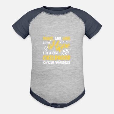 Childhood Hope Cure For Childhood Cancer Awareness - Contrast Baby Bodysuit