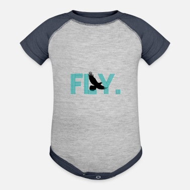 Fly Fly - Contrast Baby Bodysuit
