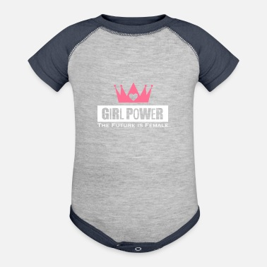 Girl Power Girl Power Woman Power - Contrast Baby Bodysuit