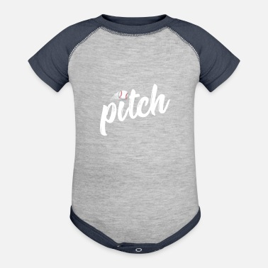 Pitch Baseball TShirt Funny Pitchers Adult Humor Mom Dad - Contrast Baby Bodysuit