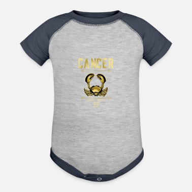Zodiac Cancer Zodiac Sign - Baseball Baby Bodysuit