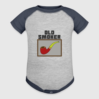 Pipe Smoking TShirt For Pipe Smoker Old smoker - Baby Contrast One Piece