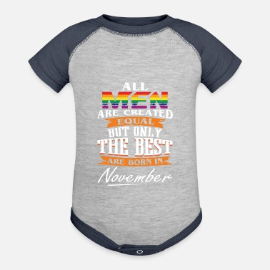 The Best Are Born In November LGBT - Baseball Baby Bodysuit