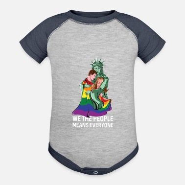We The People Means Everyone LGBT - Baseball Baby Bodysuit