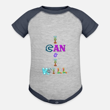 I can and I will - Baseball Baby Bodysuit