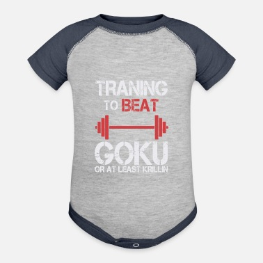Goku Fitness Training gym workout - Contrast Baby Bodysuit