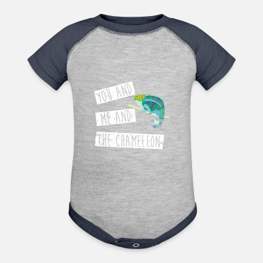 Chameleon You And Me And The Chameleon - Contrast Baby Bodysuit