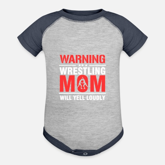 16a7dd82 Mummy Baby Clothing - Costume For Wrestling Mom. Gift Ideas - Contrast Baby  Bodysuit heather