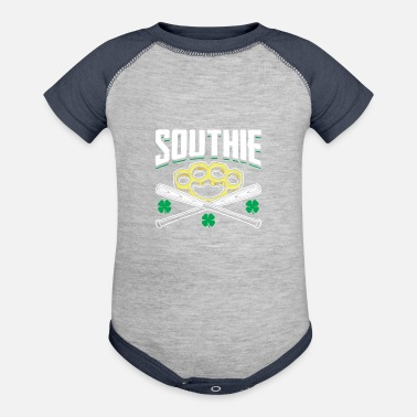 Green Southie Baseball Bats Brass Knuckle Fist - Contrast Baby Bodysuit