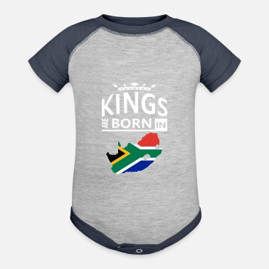 Proud Heritage Birthday Pride Love Kings are born in South Africa Pride Birthday - Contrast Baby Bodysuit