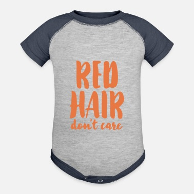 Care Red Hair Dont Care - Baseball Baby Bodysuit