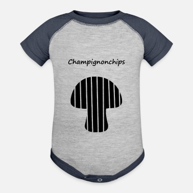 Satire Champion Champignon Chips Satire - Contrast Baby Bodysuit