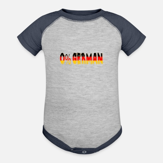I Love Beer Baby Clothing - 0% German Funny Oktoberfest Beer Festival Design For Beer Lovers And Beer Drinkers - Baseball Baby Bodysuit heather gray/navy