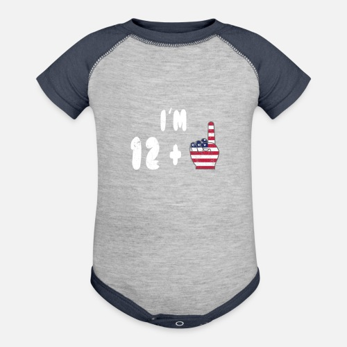 Contrast Baby Bodysuit13th Birthday Shirt Girl Boy