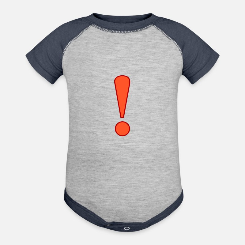 Market Baby Clothing - exclamation mark - Contrast Baby Bodysuit heather gray/navy