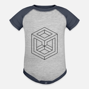 Abstract Abstract Illusion Shapes - Baseball Baby Bodysuit
