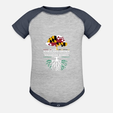 Maryland Grown with Nigerian Roots - Contrast Baby Bodysuit