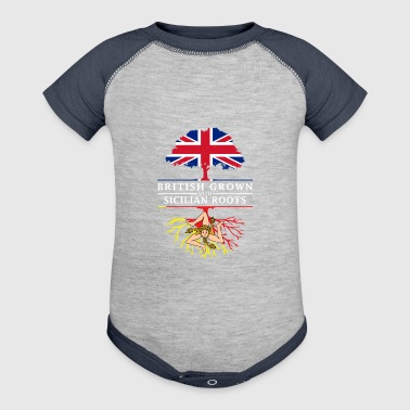 British Grown with Sicilian Roots Sicily Design - Baby Contrast One Piece