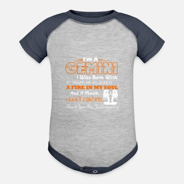 Gemini Gemini I Was Born With My Heart On My Sleeve - Contrast Baby Bodysuit