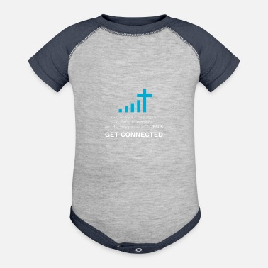Christian God Jesus Connected Shirt Gift Christians Cool - Contrast Baby Bodysuit