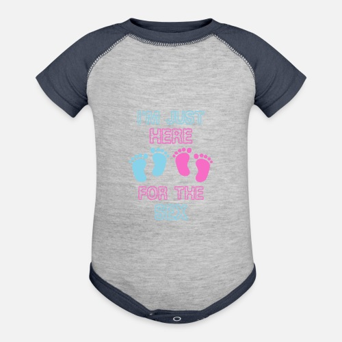 208a4a2c6 Pregnancy Gift Gender Reveal Party Pregnant Contrast Baby Bodysuit ...