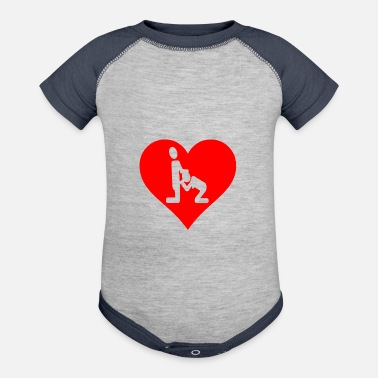 Sex Addict I love Blowjob Suck Dicks Sex Addict Heart Gift - Contrast Baby Bodysuit