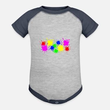 Color Splashes of color splashes of color color color du - Contrast Baby Bodysuit
