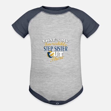 Step Brothers Volleyball Step Sister or Brother Gift - Contrast Baby Bodysuit