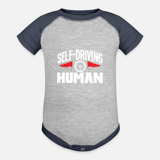 Lovers Baby Clothing - cars - Baseball Baby Bodysuit heather gray/navy