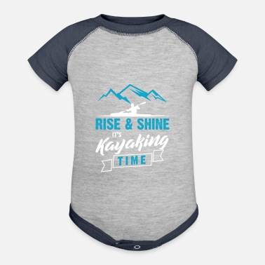 Kayak Rise And Shine It's Kayaking Time - Baseball Baby Bodysuit