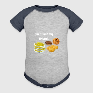 Carbs Are My Friends Funny Carbs - Baby Contrast One Piece