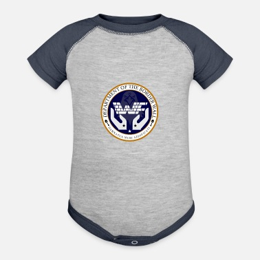 Border Security Force DEPARTMENT OF THE BORDER WALL - Baseball Baby Bodysuit