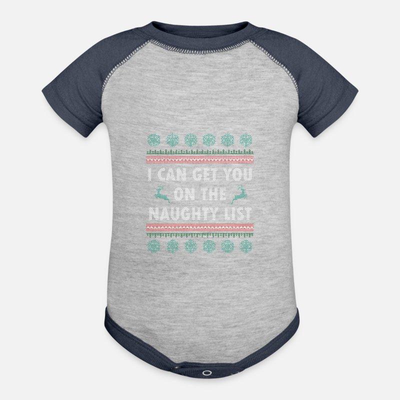Ugly Christmas Sweater Sayings Contrast Baby Bodysuit Spreadshirt