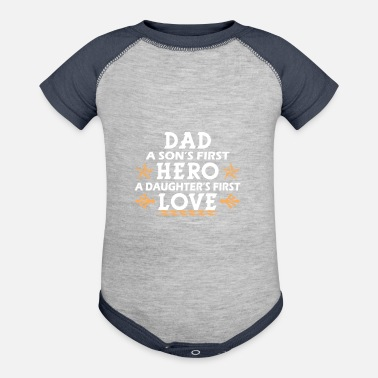 Son Dad son and daughter - Baseball Baby Bodysuit
