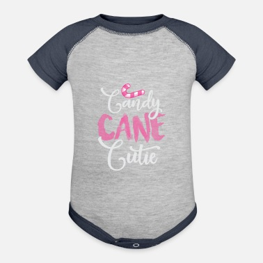 Candy Cane Cutie Christmas Day Winter Season - Baseball Baby Bodysuit