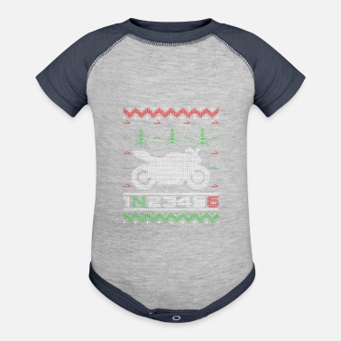 1 Down 5 Up Christmas Sweaters - Baseball Baby Bodysuit
