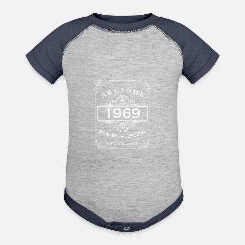 Contrast Baby BodysuitBirthday Gift 1969 Man 50 Idea Dad Husband
