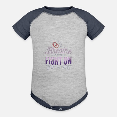 Cf Breath and fight on CF graphics for Cystic - Baseball Baby Bodysuit