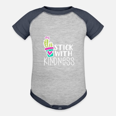 Kind Kindness Stick With Kindness Cactus Kind - Contrast Baby Bodysuit