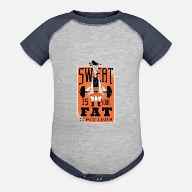 Sweat Quotes SWEAT QUOTE FITNESS DESIGN - Baseball Baby Bodysuit